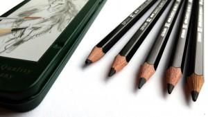 Wasservermalbare Bleistifte