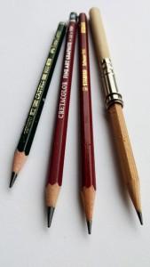 Bleistifte und Stiftverlängerung