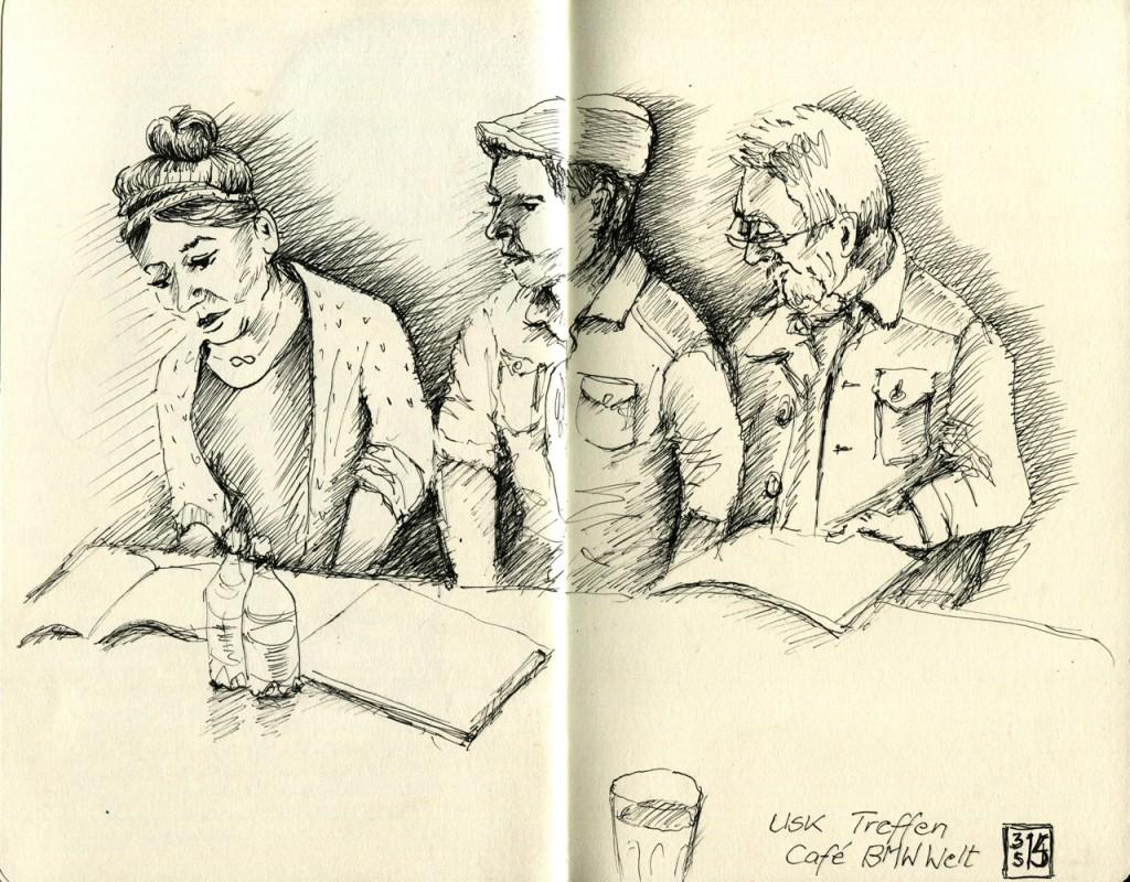 Zeichentreffen im Café