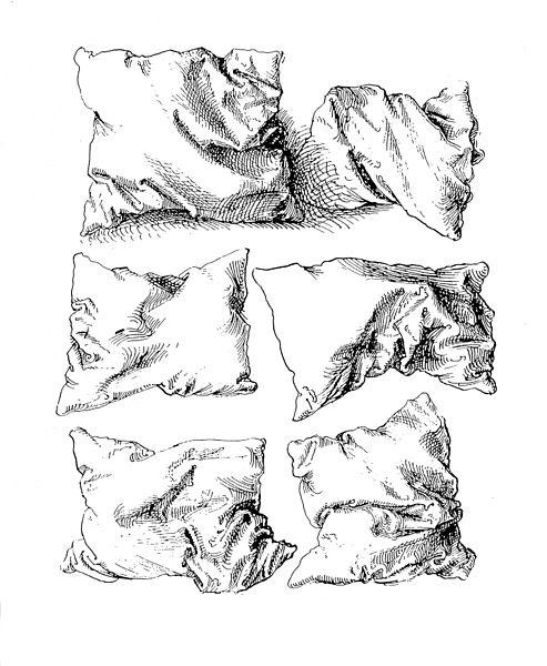 Schraffieren Albrecht Dürers Kissen