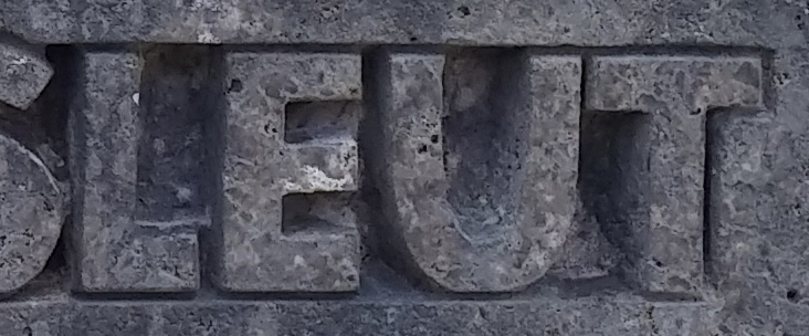 3D Schriften in Stein